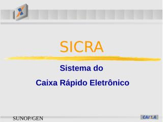 Fluxo Sicra Treinamento Van.pps