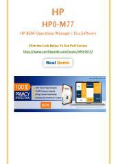 HP0-M77 HP Certification Score Training.pdf