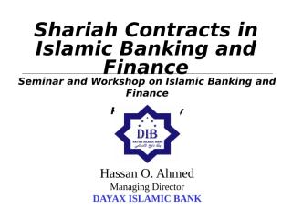 Shariah Contracts & Islamic Banking.ppt