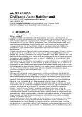 Walter Krauss - Civilizatia Asiro-Babiloniana.doc